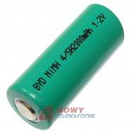 Akumulator do pakietu BYD4/5A BB bez blaszkek)1,2V 2000mAh 17x42mm