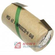Akumulator do pakietu BHSC3,3 ZB BH z blaszkami 22x42mm 1,2V Ni-MH 3300mA
