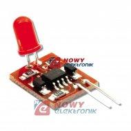 Zestaw AVT1482B Sygnalizator LED Migacz NE555 Imitacja alarmu