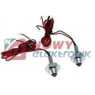 Kontrolka LED niebieska MRS-02 chrom. 5mm śruba świecąca 12V DC (1szt.)