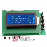 Zestaw AVT5589C 4-kan. termostat z alarmem (zmontowany)