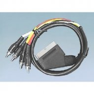 Kabel SCART-4*RCA 1,5m