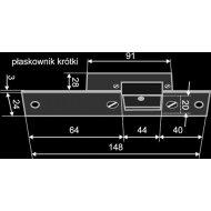 Płaskownik kr.aluminiowy srebrn. WZ101-10