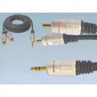 Kabel jack 3,5st-2*RCA 5.0m DIGI DIGITAL/Vitalco ZŁOTE