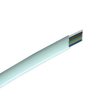 Przewód tel.6 6C-100M/R  CCA CCA czarny