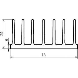 Radiator A5723 L-7cm