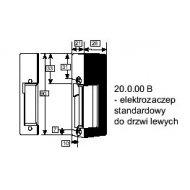 Elektrozaczep lewy 20.0.00.B-07. Standard stały