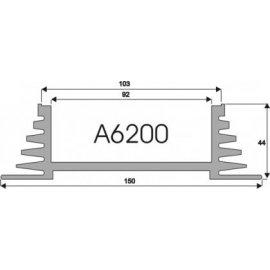 Radiator A6200 L-7cm
