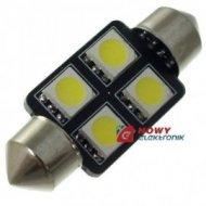 Dioda LED C5W 36mm 4xSMD5050 Biała 12V
