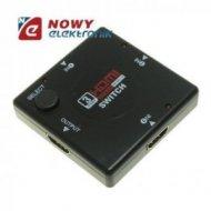 Przełącznik HDMI 1x3 FULL HD 3w1 3D Switch