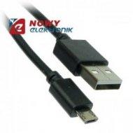 Kabel USB Wt.A-mikroUSB 1m do 1A Czarny      (micro)