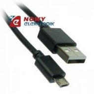 Kabel USB Wt.A-mikroUSB 1.5m do 1A Czarny      (micro)