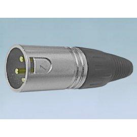 Wtyk mikrofonowy 3pin złote piny XLR