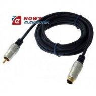 Kabel SVHS-1*RCA 3m DIGITAL złote