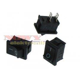 Przełącznik koł. mały 2pin/2pozC czarny