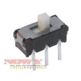 Przełącznik suwakow.SWS12N10F02 miniaturowy, pionowy
