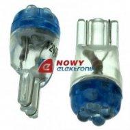 Dioda LED 194-4B niebieska T10-4LED