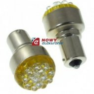Dioda LED 1156-12Y BA15S 12VDC zółta zam.żarówki