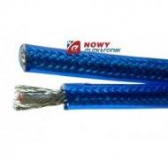 Przewód 2C+2 /6+6/ OFC niebieski Transparent 3855