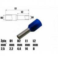Końcówka rurkowa izol.2,5mm   -- 14323
