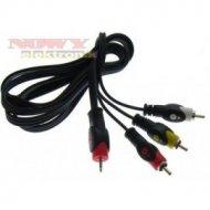 Kabel jack 2,5(4-pol)-3*RCA 1,5m
