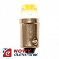 LED 12V 4WBA9S Żółta Zamiennik za żarówkę samochodową BA9S