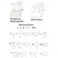Szczotka 801 4,9x10,0x17,0 (801) --57276 szlif.Bosch