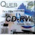 Płyta CD-RW QUER 700MB/80min spind