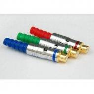 Gniazdo RCA złote chrom/teflon na kabel
