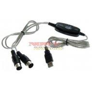 Kabel USB MIDI usb/2*din5