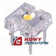 Dioda LED 3mm BIAŁA FLUX(ciepła) Biała Ciepła