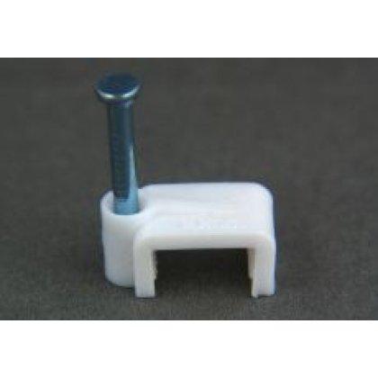 Uchwyt kabla płaski 10mm klip