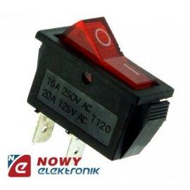 Przełącznik RS 101-3B on-off kołyskowy czerwony