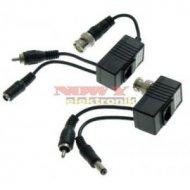 Transformator Video 213/A/B pasywny video/audio/zasil. BNC/UTP (kpl)