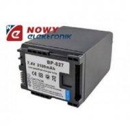 Akumulator do kamer video BP-827 7.4V 2100mAh Li-ION (Zam.dla CANON)