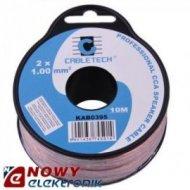 Przewód głośnik. 2x1 CCA 10M cena za rolkę 10m