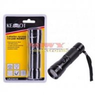 Latarka ręczna 14 LED KEMOT (czarna)