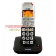 TELEFON MAXCOM MC6900 czarno srebrny, CLIP + funkcja głośnomó.