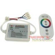 Sterownik LED RGB 18A 6k dotyk. 6key biały do Modułów (taśm) led