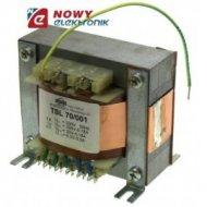 TSL70/001 230V/250V 0.18A, 20V 0.18A, 6.3V 3.5A Trans.do wzmacn.lampow.