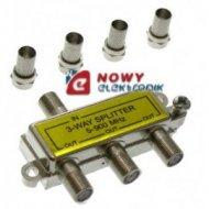 Spliter F*3  5-900MHz+4 wtyki F