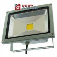 Halogen LED 20W GREY WZ b.zimny Biały reflektor/naświetlacz