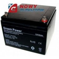 Akumulator 12V-26Ah  DREAM POWER (28) żelowy