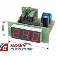 Miernik tablicowy voltom. 35V DC LED VS1C R czerw./samochodowy woltomierz