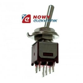 Przełącznik SMTS2022A1 podw.czer 1,5A/250VAC 6pin 2-pozycyjny ON-ON