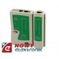Tester sieci kat.5 i sieci tel. economic  LAN RJ45/RJ11