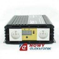 Przetwornica 12V/230V 1000/1500W sinus/specjalna