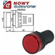 Kontrolka LED 24V czerwona 22mm AD58D-024 24V AC/DC
