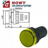 Kontrolka LED 230V żółta 22mm AD58D-225  220-240VAC