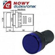 Kontrolka LED 230V nieb. 22mm AD58D-226  220-240VAC